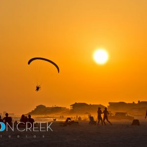 Gliding through a Grayton Beach sunset.