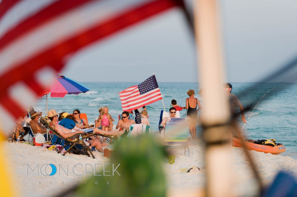 American Flags on Grayton Beach